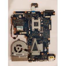 Материнская плата для ноутбука Toshiba Satellite L675D-10M (NALAE LA-6054P) c системой охлаждения и процессором
